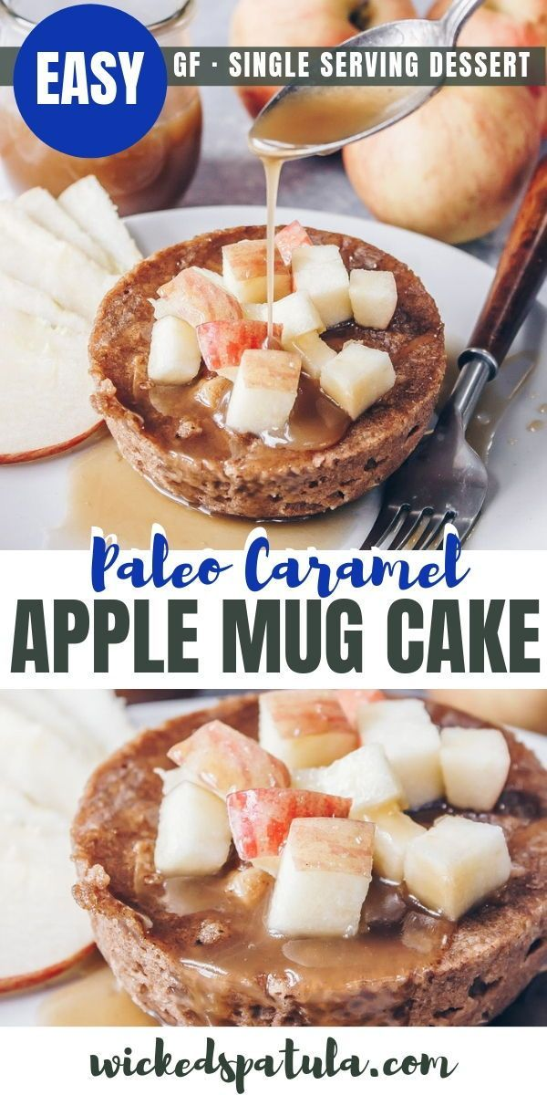 Paleo Caramel Apple Mug Cake - This Paleo Caramel Apple ...