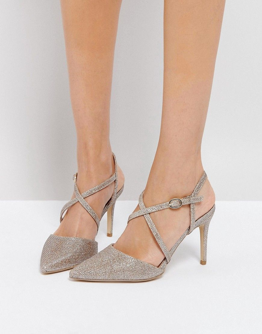 New Look Cross Front Pointed Heeled