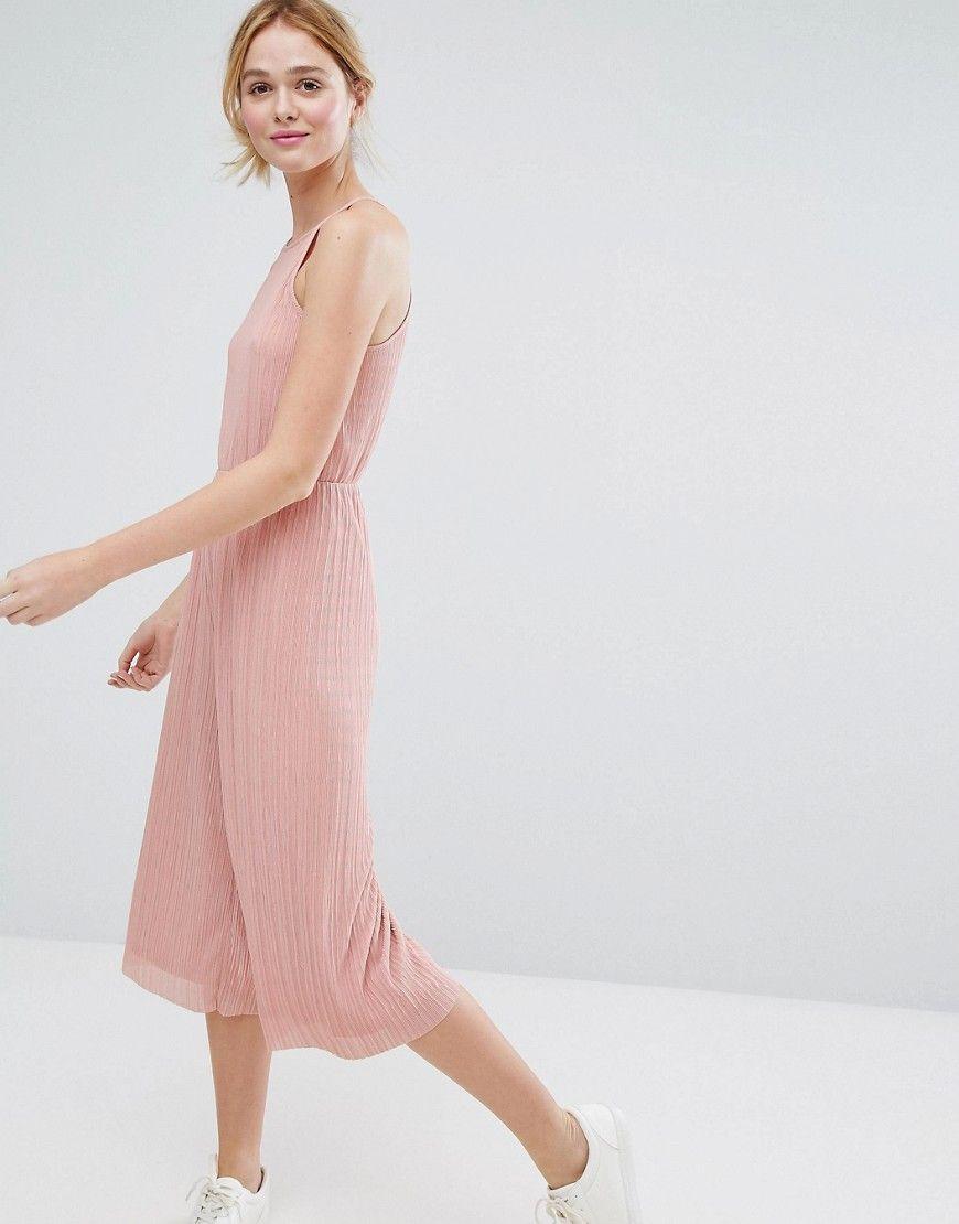 5c9ef5dc0ff Monki Ribbed Culotte Jumpsuit | Products | Jumpsuit, Pink jumpsuit ...