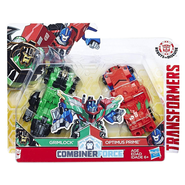 Hasbro Transformers Combiner Force Figuren Grimlock und Optimus Prime Primelock