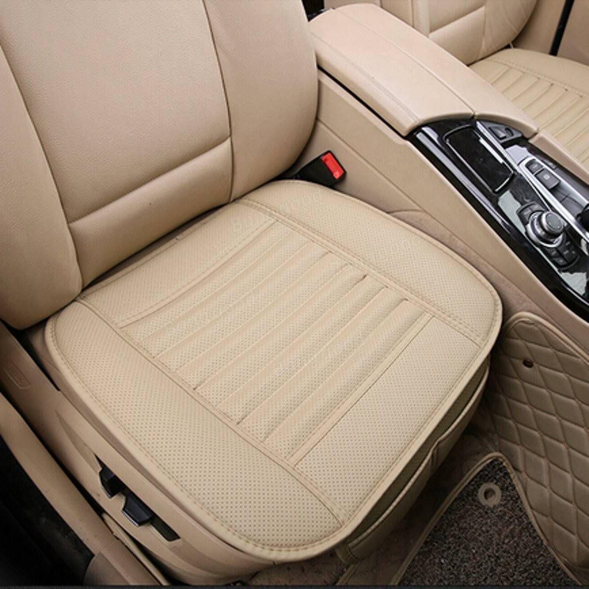 Universal Seat Pad Pu Leather Bamboo Charcoal Car Cushions Car
