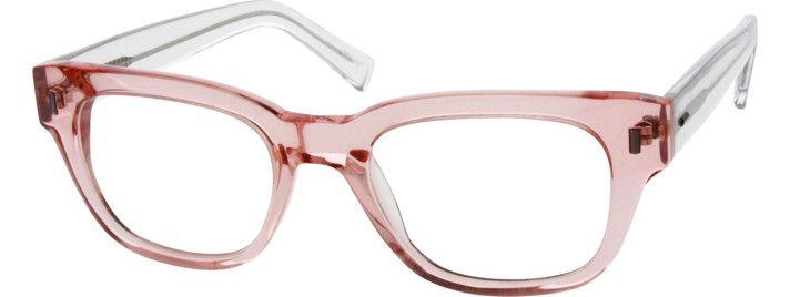pink translucent eyeglass frames zenni 2995 eyewear eyeglasses frames