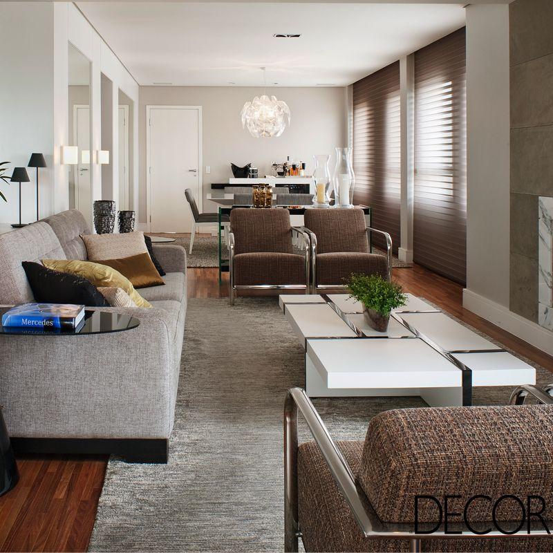 Um visual masculino e sofisticado. Essa foi a ideia das arquitetas Ana Cristina Tavares e Claudia Krakowiak Bitran ao projetar um apartamento de 180 m² em Moema, São Paulo.