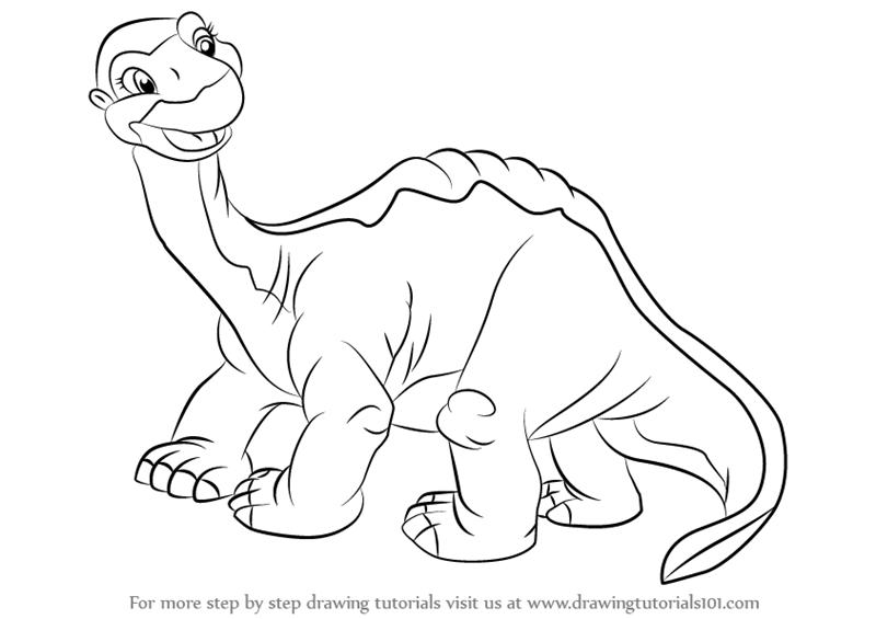 Learn How to Draw Littlefoot from The Land Before Time (The Land ...