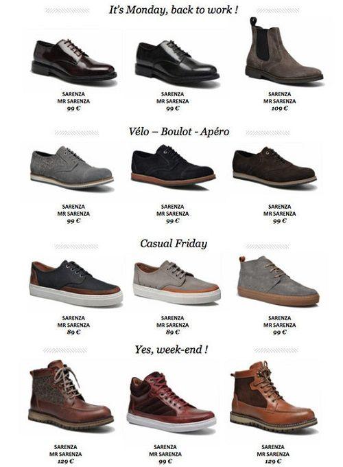 mr sarenza nouvelle marque de chaussure pour homme. Black Bedroom Furniture Sets. Home Design Ideas