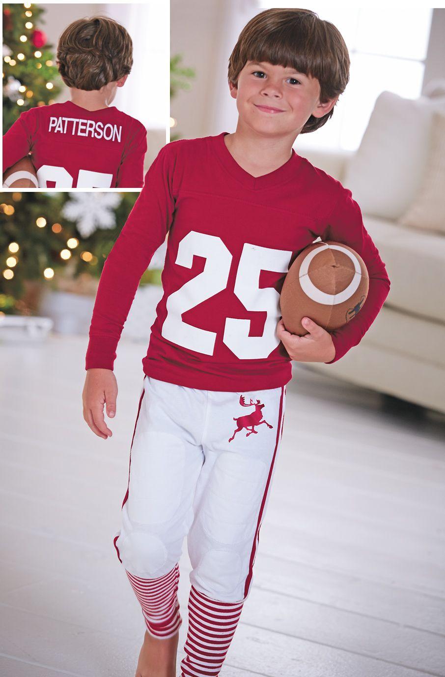 From CWDkids: Personalized Football Pajamas | Kids holiday ...