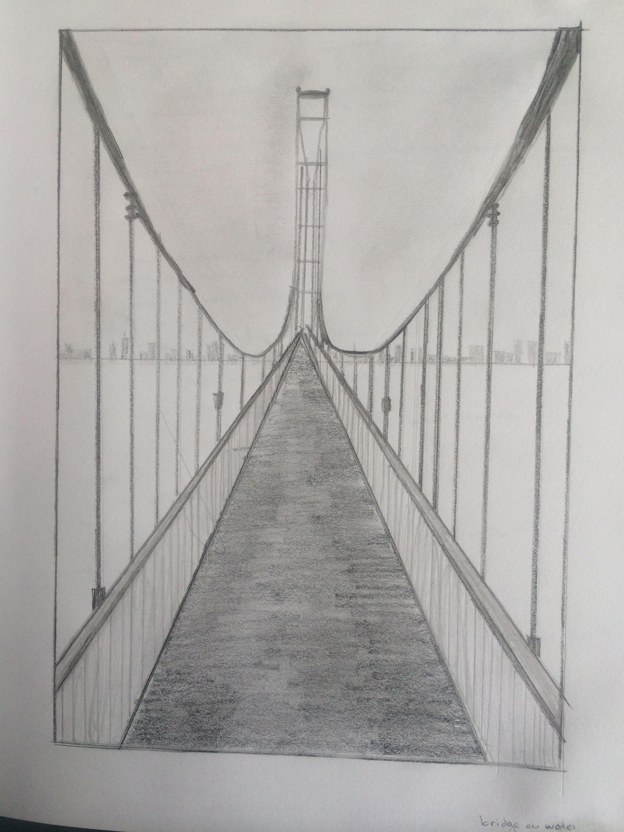 One Point Perspective Bridge