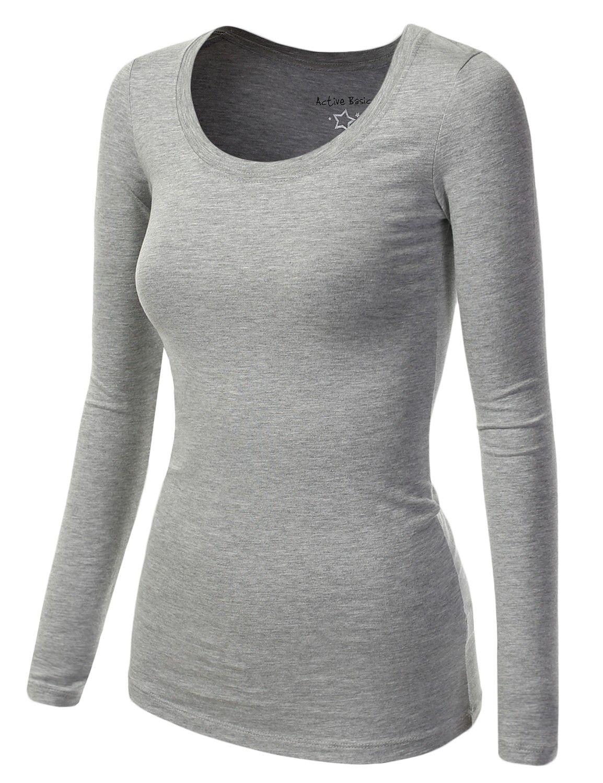 Plain T Shirt For Women Womens Basic Cotton Long Capsule Wardrobe