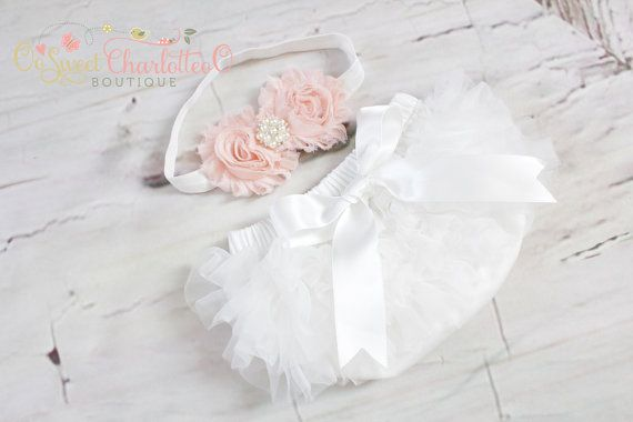 Cream TuTu Diaper Cover And Peachy Shabby by OoSweetCharlotteoO