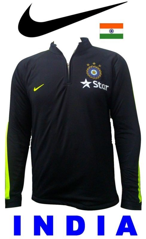 India Cricket 2017 Bcci Star Practice Jacket Jersey Shirt