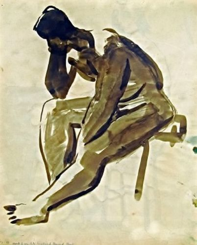 Nude Double Sided Drawing David Park (1911-1960)   Flickr - Photo Sharing!