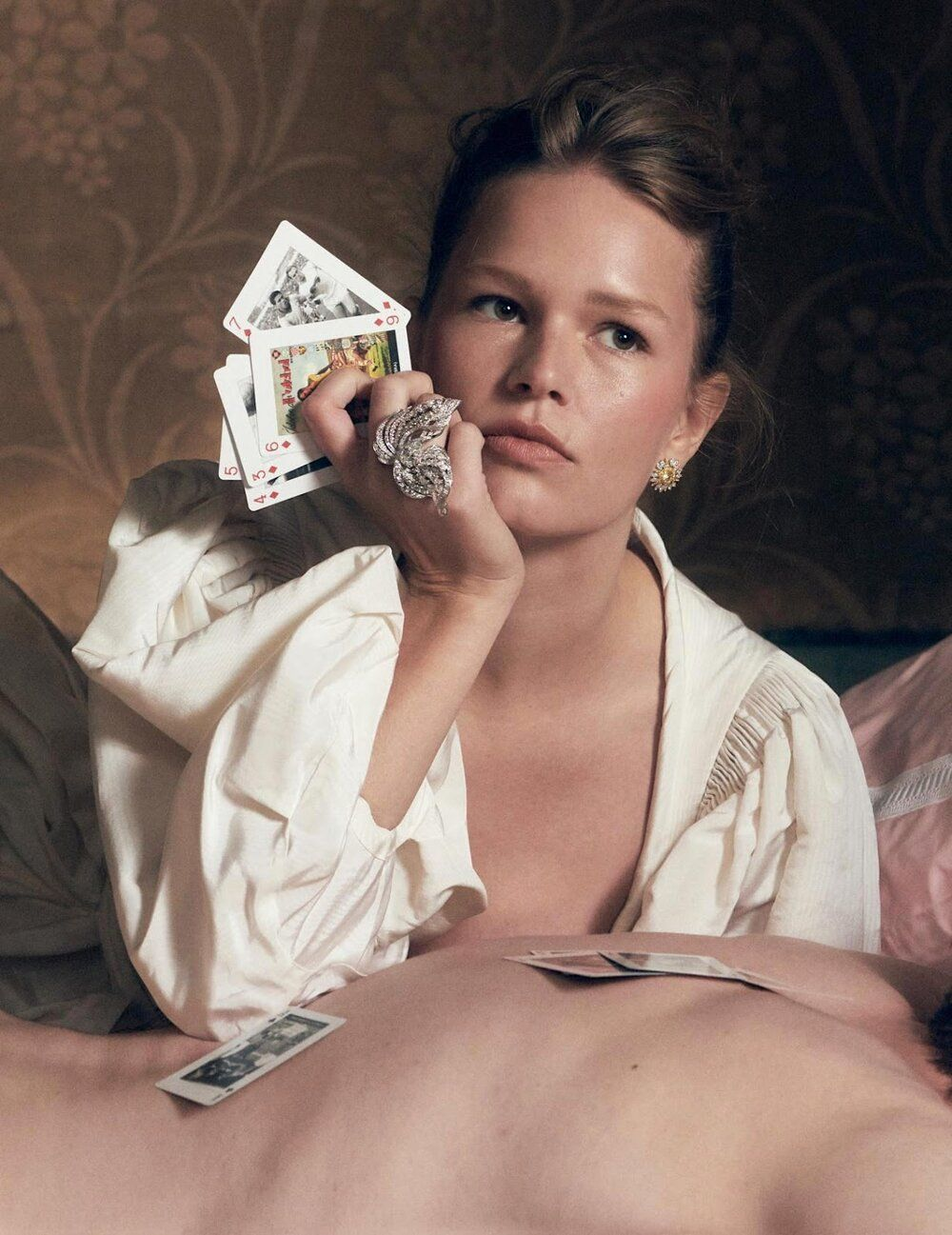 Photo of Anna Ewers Fashion Opulence Rich Bitch Jewelry for Vogue Paris — Anne of Carversville