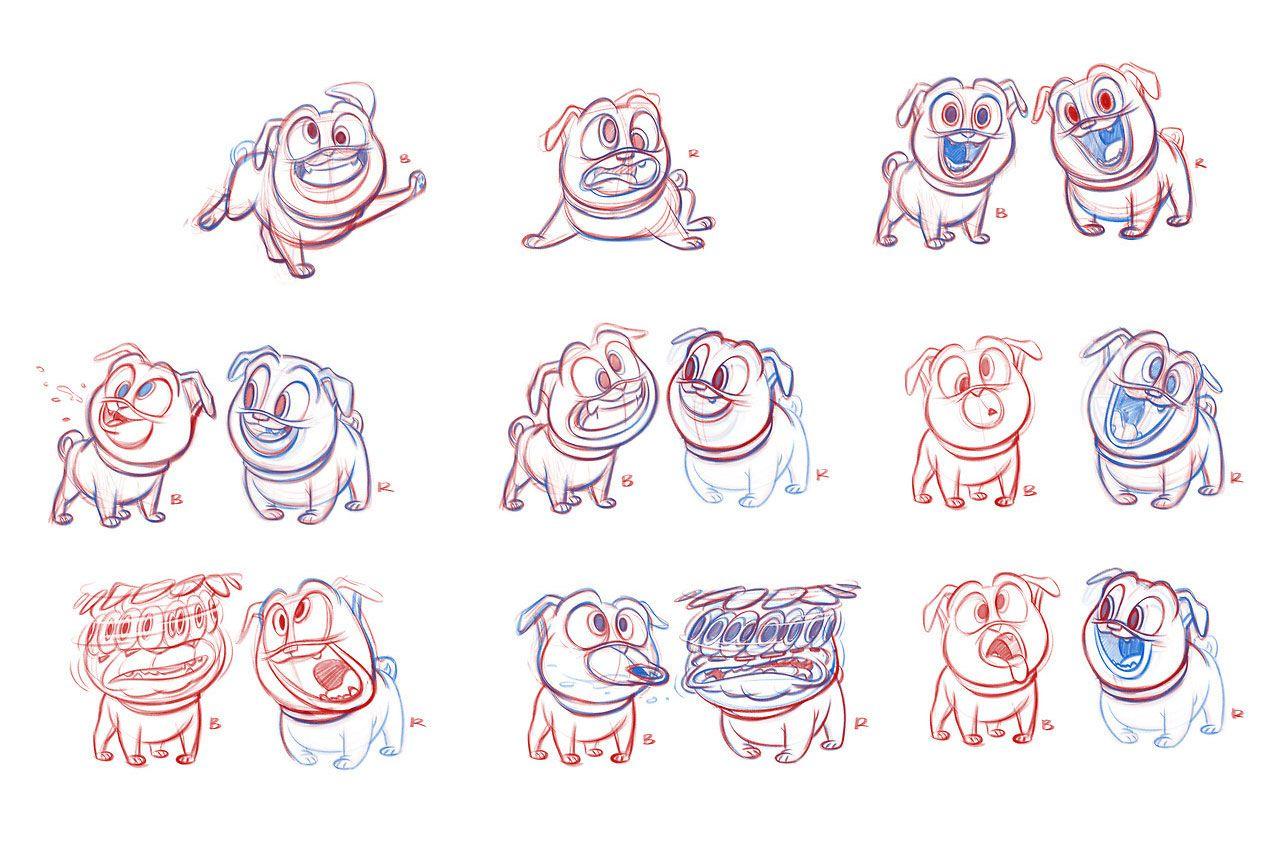 Artes De Jeremiah Alcorn Para O Seriado Puppy Dog Pals Da Disney Thecab The Concept Art Blog Cartoon Character Design Dogs And Puppies Character Design [ 868 x 1280 Pixel ]
