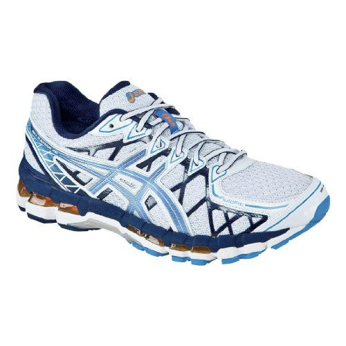 mens asics gel kayano 20 white galaxy open white 10 4e extra wide. fluidfit construction. this running shoe from asics offers a blend of stable suppor