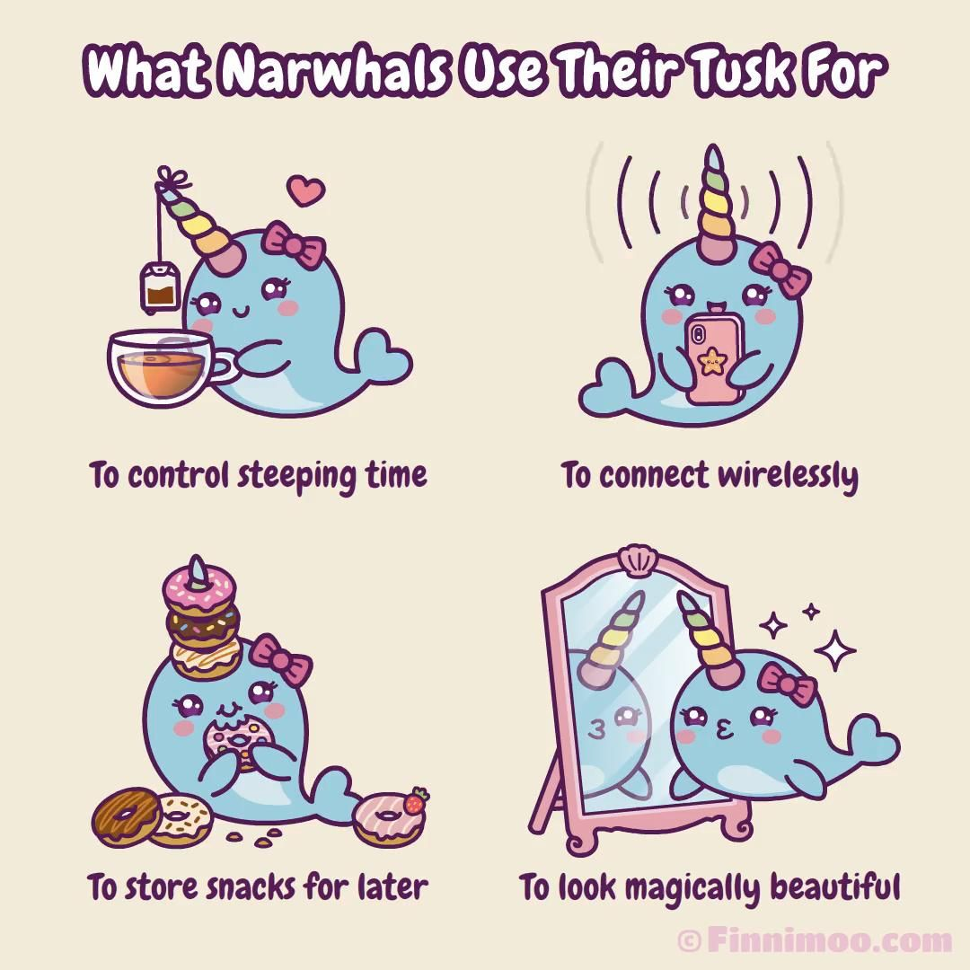 What Narwhals Use Their Tusk For - Cute Comic