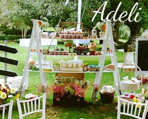 10 Mesa de dulces para boda en jardin