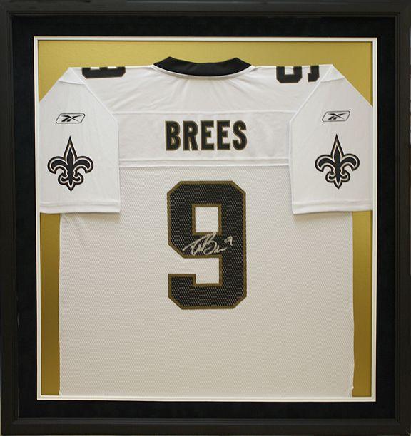 Framed NFL New Orleans Saints Drew Brees Football Jersey. Designed ...