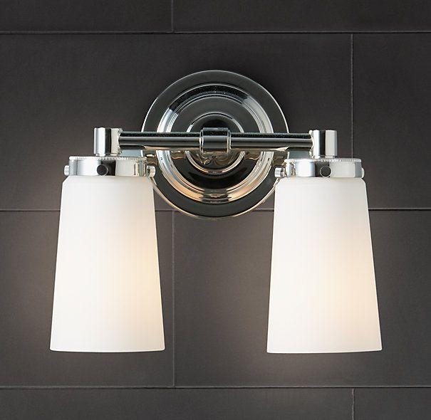 Bathroom Lighting Restoration Hardware #44 - Asbury Double Sconce - Contemporary - Bathroom Lighting And Vanity Lighting  - Restoration Hardware
