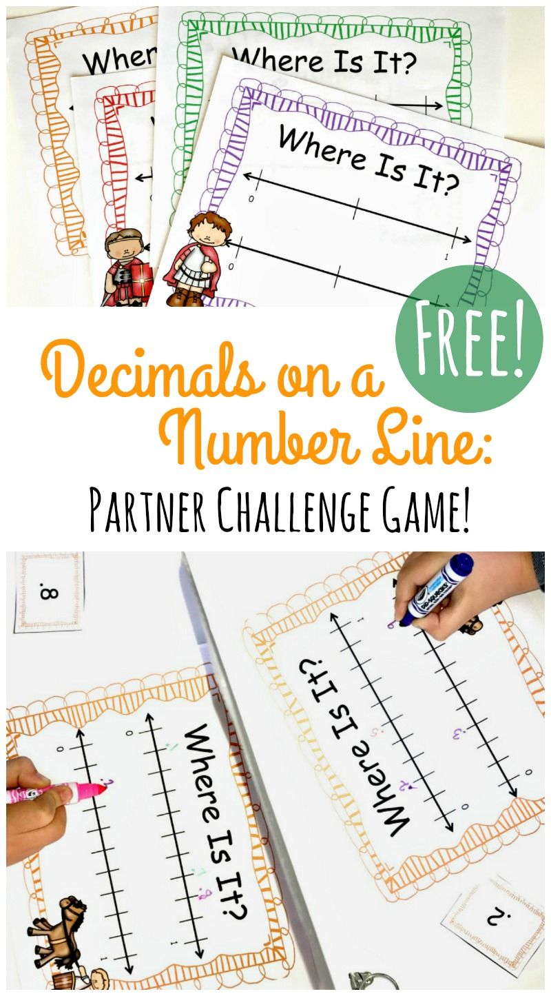 Decimals on a Number Line Game that Kids LOVE! {FREE} | Schule