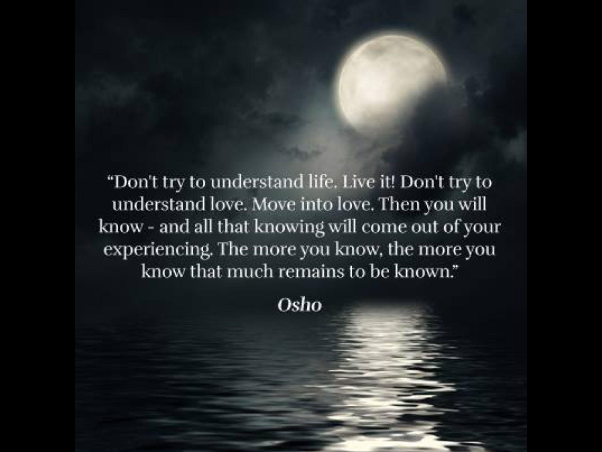 Osho. Wisdom. Live life. | Osho | Osho, Osho quotes on ...