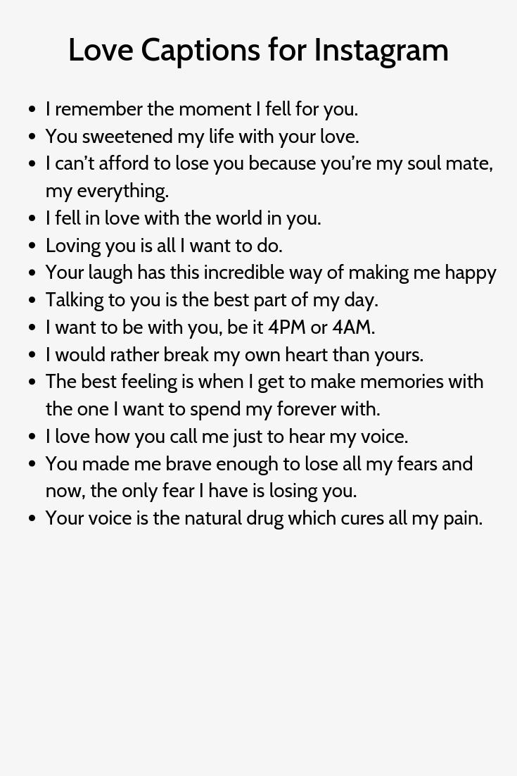 Love Captions For Instagram Instagram Quotes Love Captions Instagram Captions Boyfriend