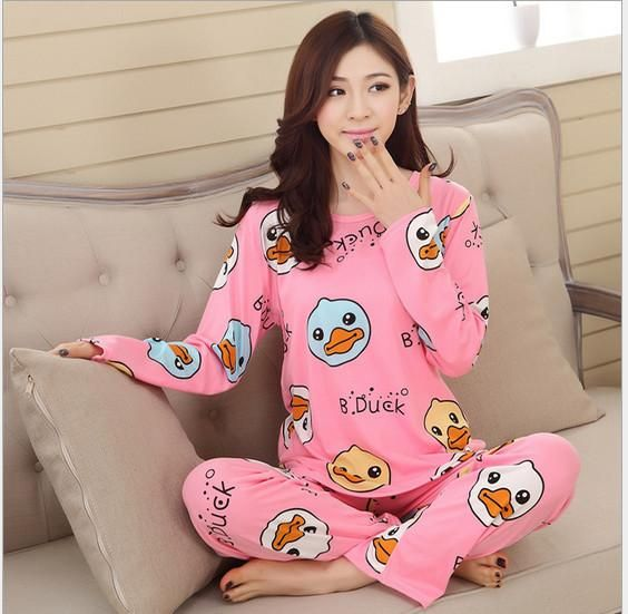 aea6ab797860 Women s Pajamas Carton Set for Women Home wear Indoor Clothing Lady lovely  Cute Sleep wear