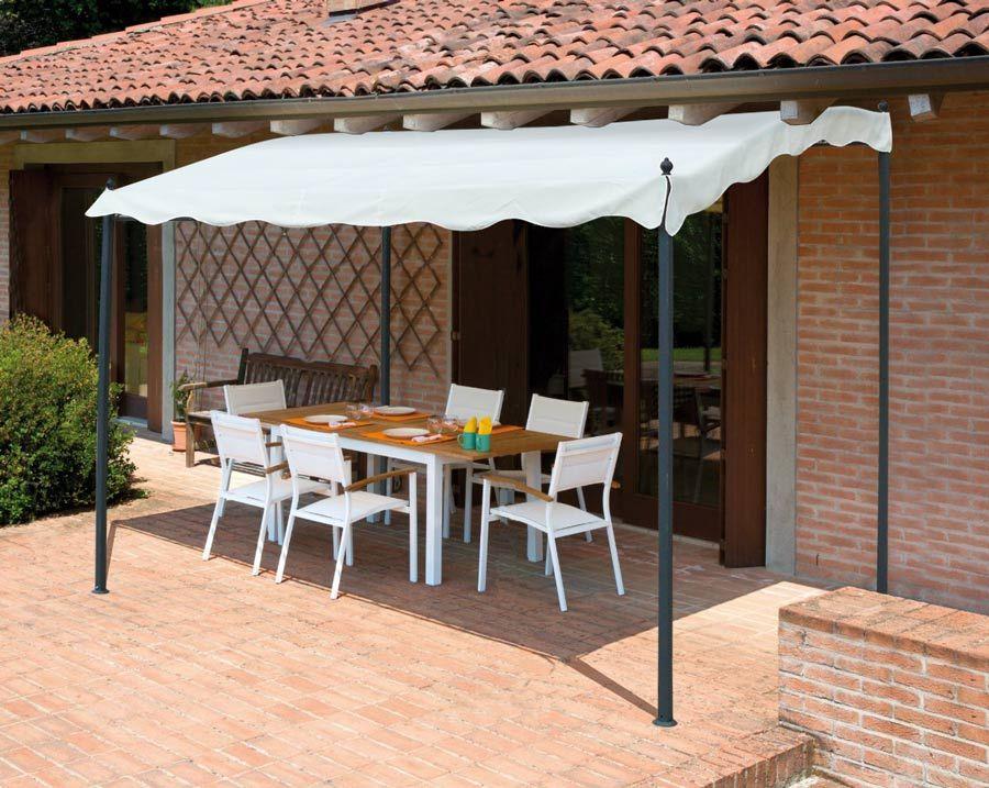 Gazebo 3x2 metri giardino acciaio ingresso bar hotel