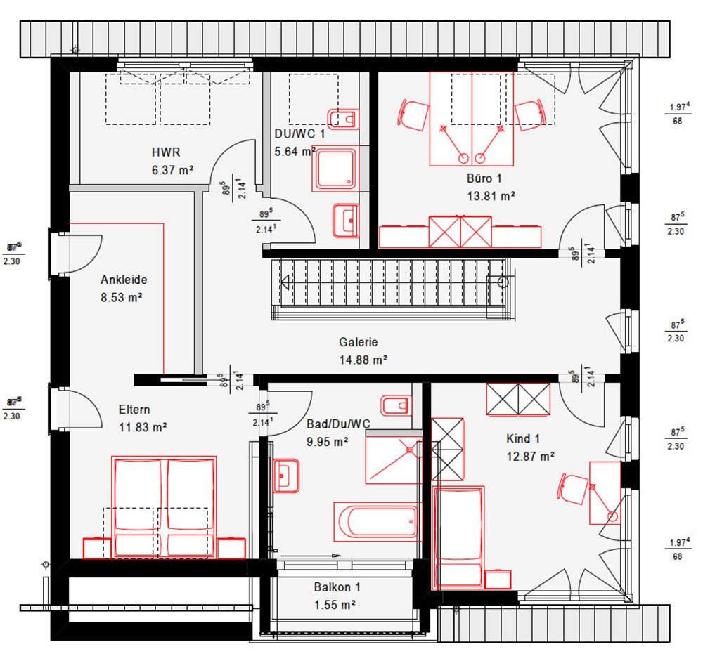 Musterhaus Fellbach Okal haus, Haus grundriss und Haus