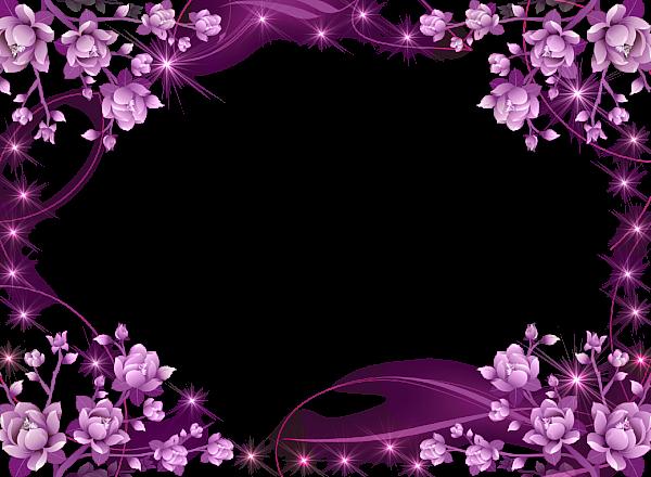 Transparent Pink Flowers Frame Frames Borders Flower Frame