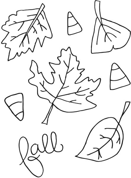 Printable Fall Coloring Pages for a fun afternoon activity with
