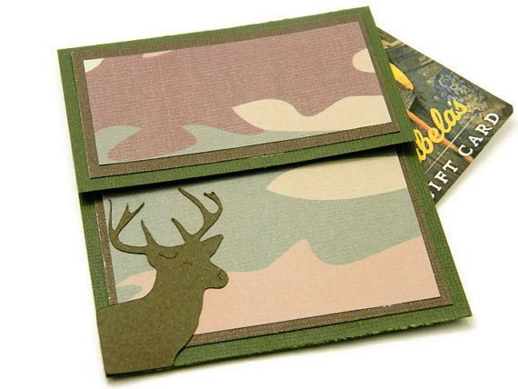 Camouflage Gift Card Holder - Father's Day Money Holder - Birthday Money Envelope - Gift For Deer Hunter - Camo Gift Card Holder #giftsforhim #designsbycnc