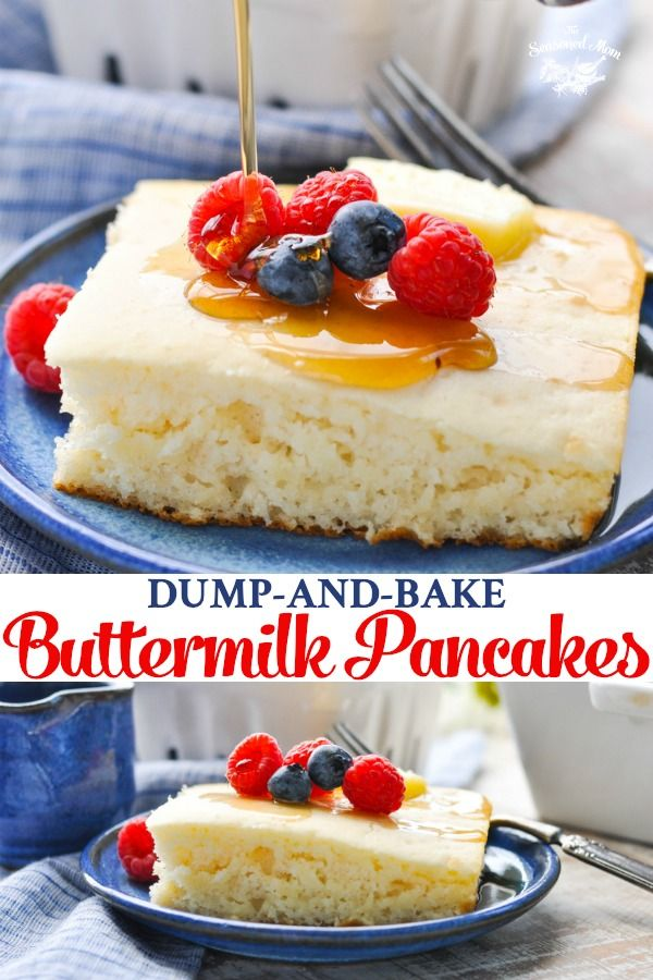 Dump-and-Bake Easy Buttermilk Pancakes - The Seasoned Mom