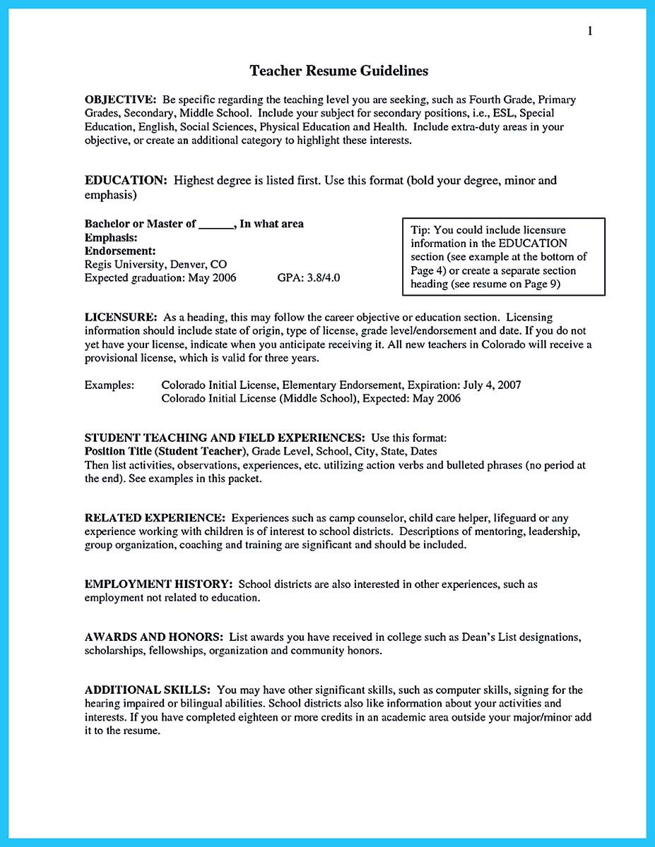 Objective For Teaching Resume Alluring There Are Several Parts Of Assistant Teacher Resume To Concern Decorating Inspiration