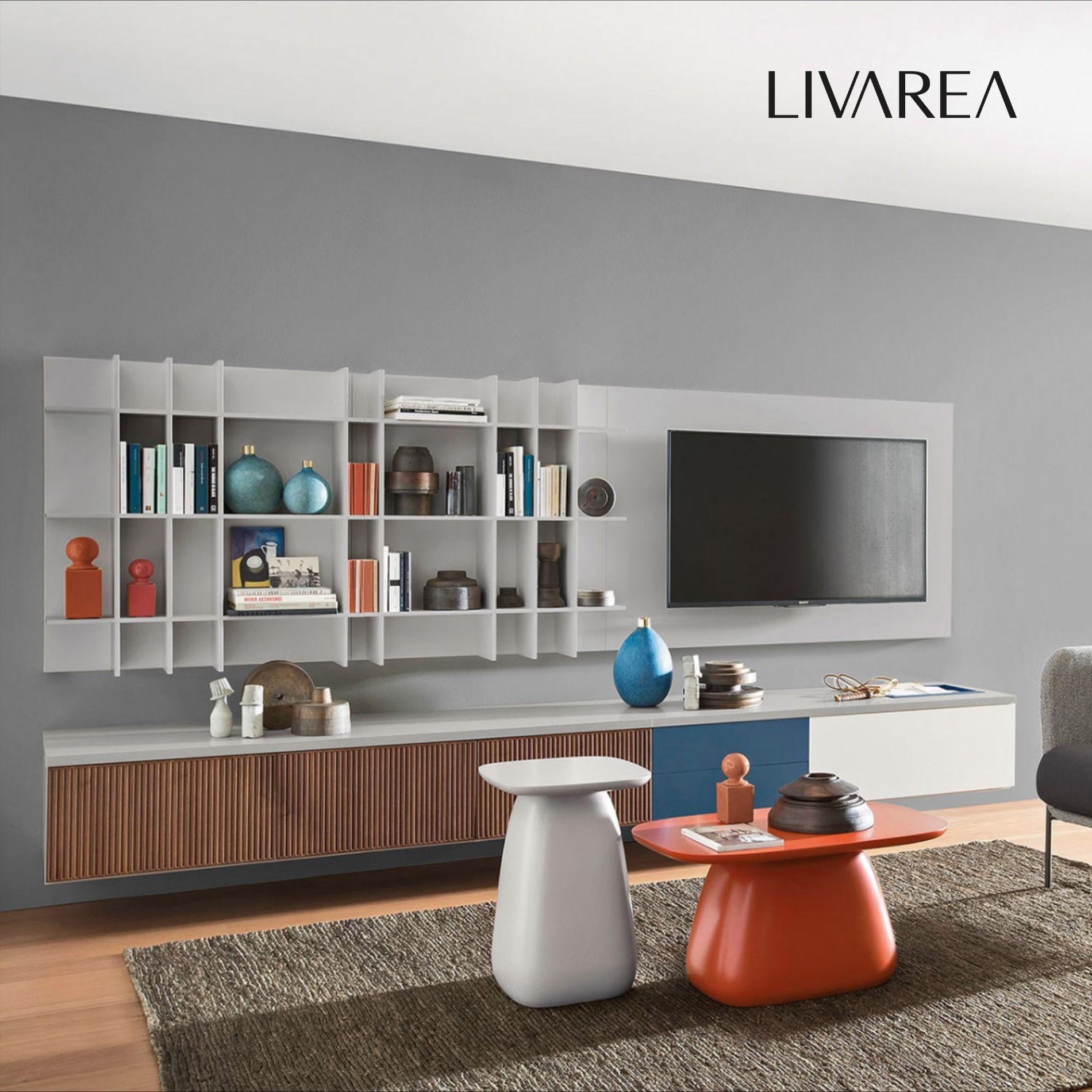 Wunderschönes Design Wohnzimmer mit Wohnwand in 7  Designer