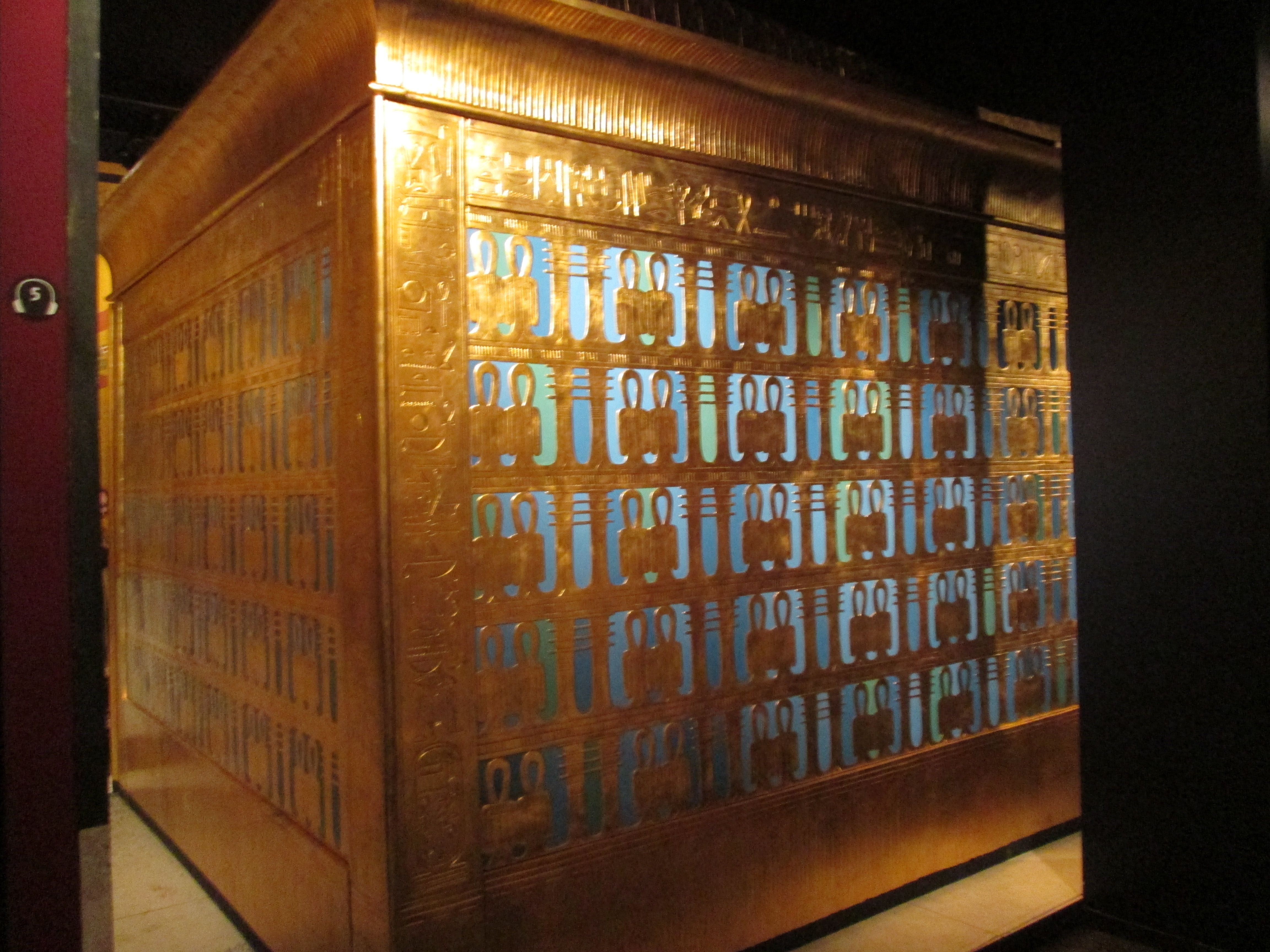The Outermost Golden Shrine Holding King Tut S Coffin At