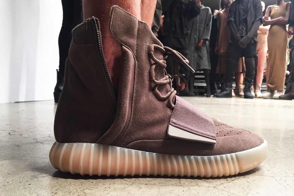 402673311edc2 Kanye West Reveals New Yeezy Boost 750 Colorway at Yeezy Season 2 Show:  Seen here for the first time at the Yeezy Season 2 Fashion Show.