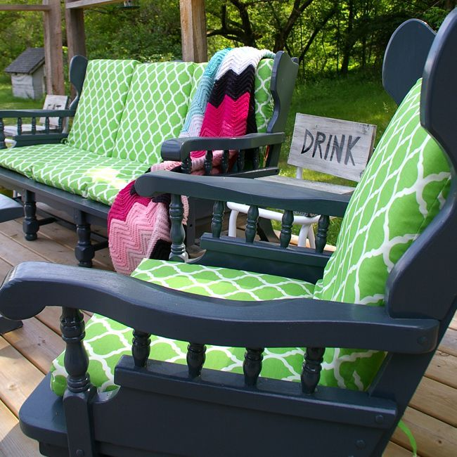 Convert A Wooden Sofa And Rocking Chair From Indoor Furniture To Outdoor  Furniture For Your Deck
