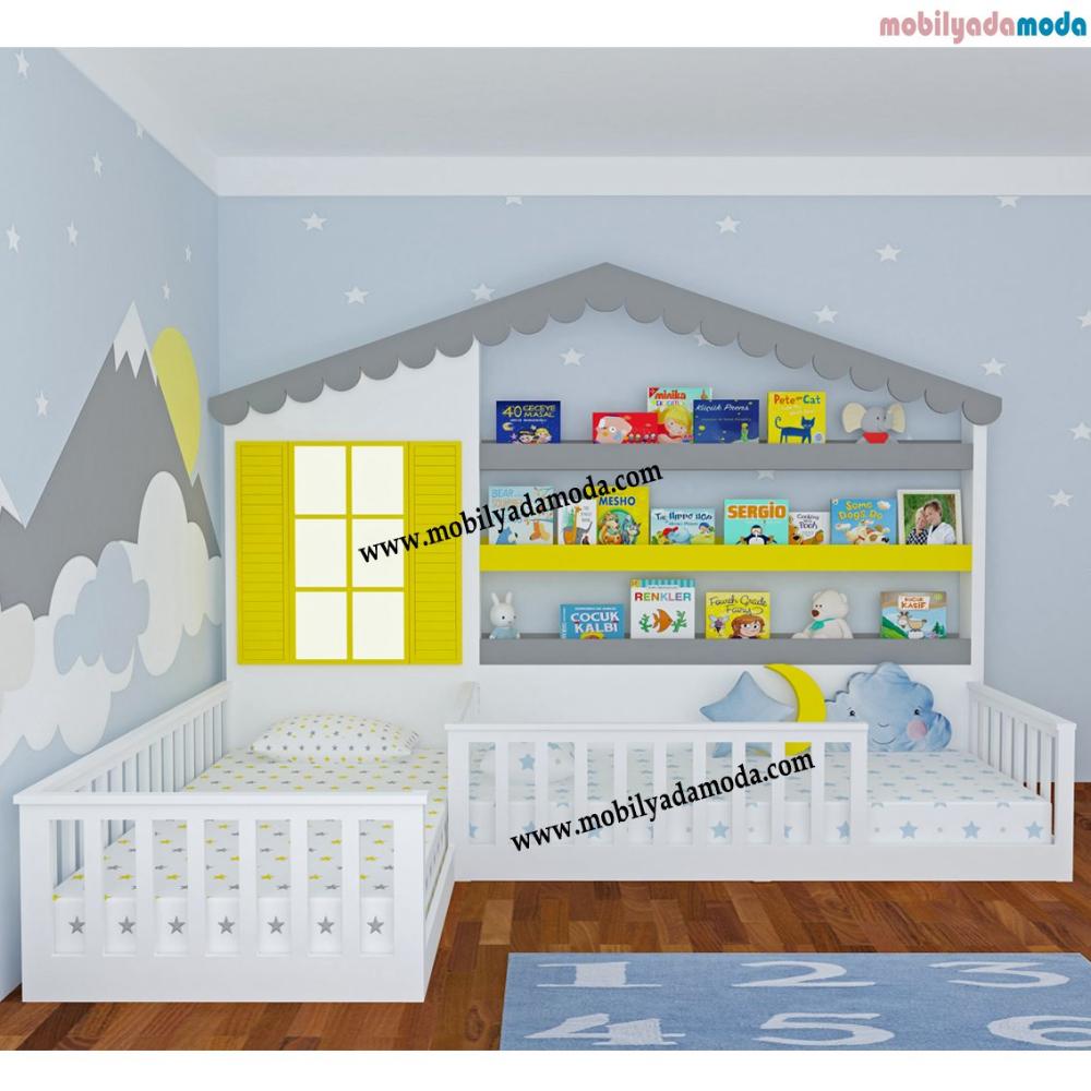 Bebek Cocuk Genc Odalari Montessori Odalari Karyola Bebek Odasi Mobilya Cocuk Yatak Odasi Fikirleri