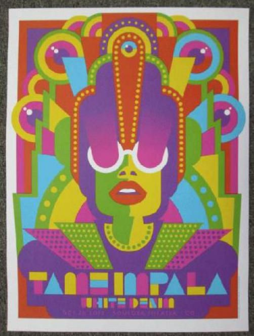 Berkeley Tame Impala Official Silkscreened Limited Edition poster CA 2