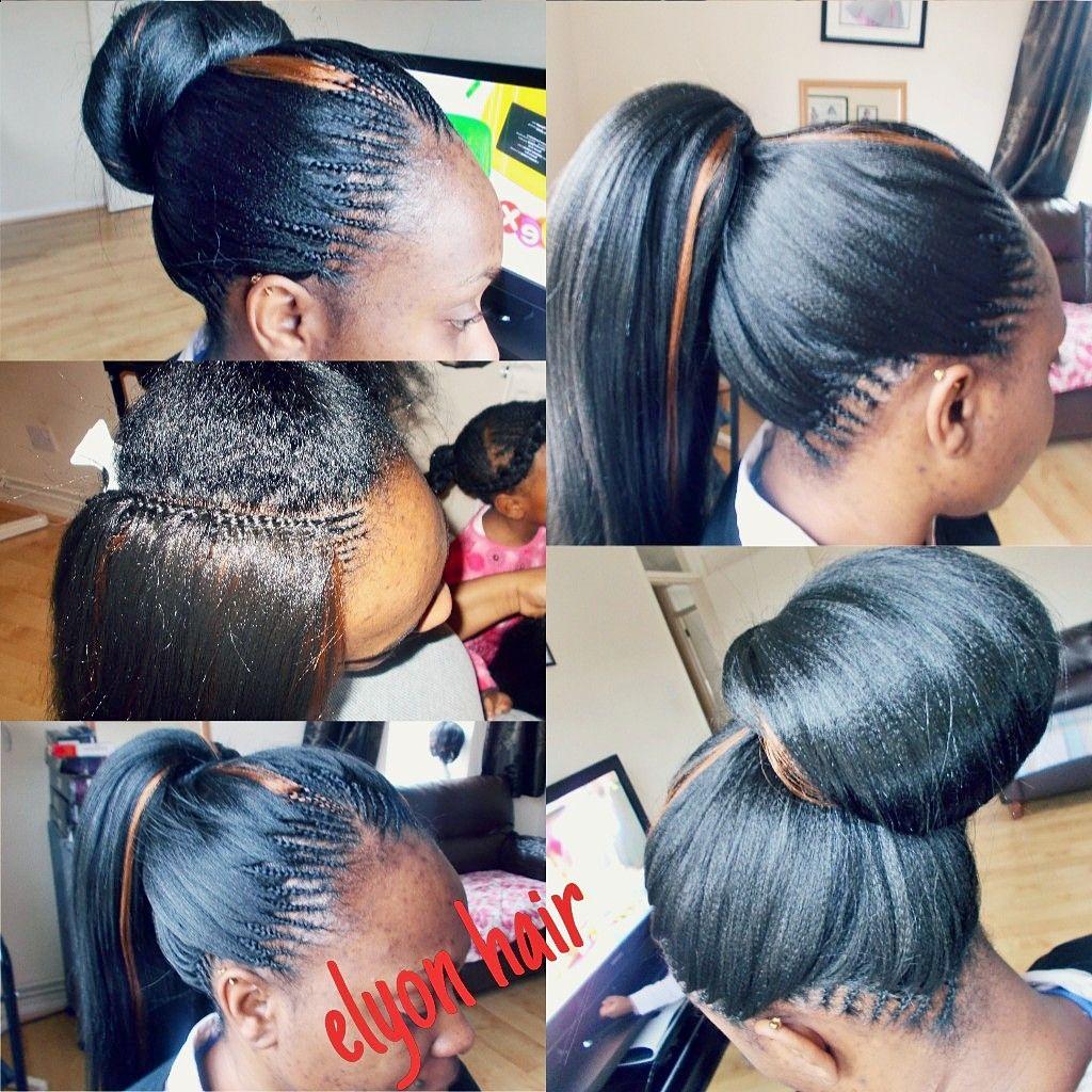 Tree Braids Cornrow In A Bun Tree Braids Hairstyles Hair Styles Crochet Braids Hairstyles