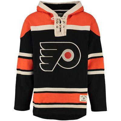 Men s Philadelphia Flyers Old Time Hockey Black Home Lacer Heavyweight  Hoodie c6d6e3f86