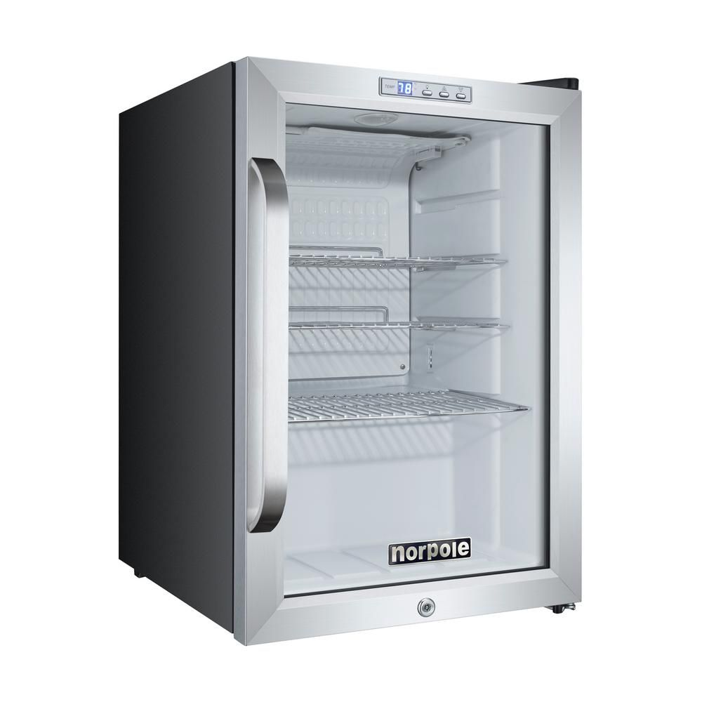 Norpole 2.5 cu. ft. Countertop Merchandiser in Stainless Steel ...