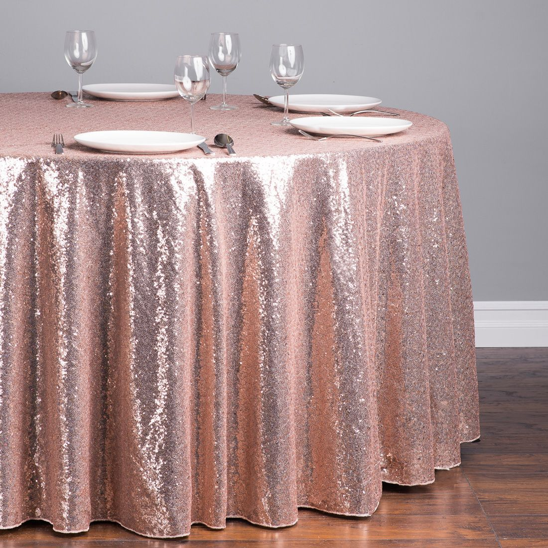 116 In Round Sequin Tablecloth Blush Pink Sequin Tablecloth
