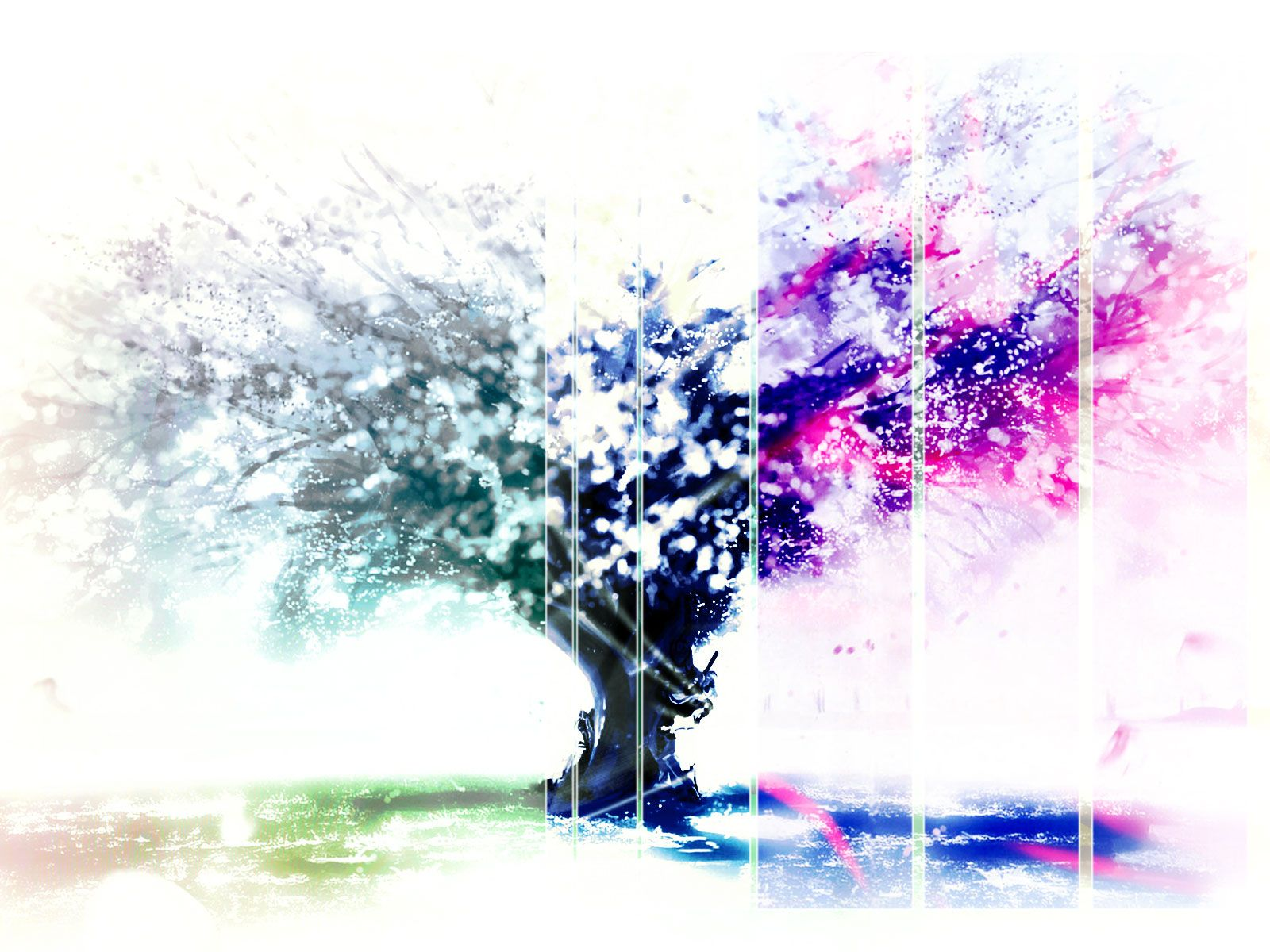 Colorful Tree Painting Wallpaper
