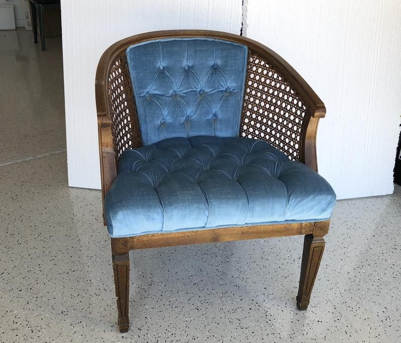 Incredible Vintage French Regency Chair Cane Barrel Chair Lewittes Alphanode Cool Chair Designs And Ideas Alphanodeonline