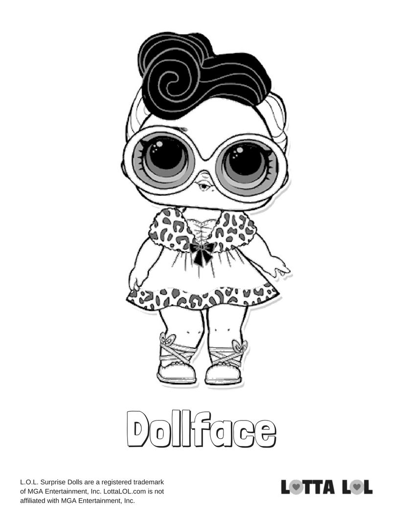 Dollface Coloring Page Lotta Lol Lol Dolls Coloring Pages Kitty Coloring