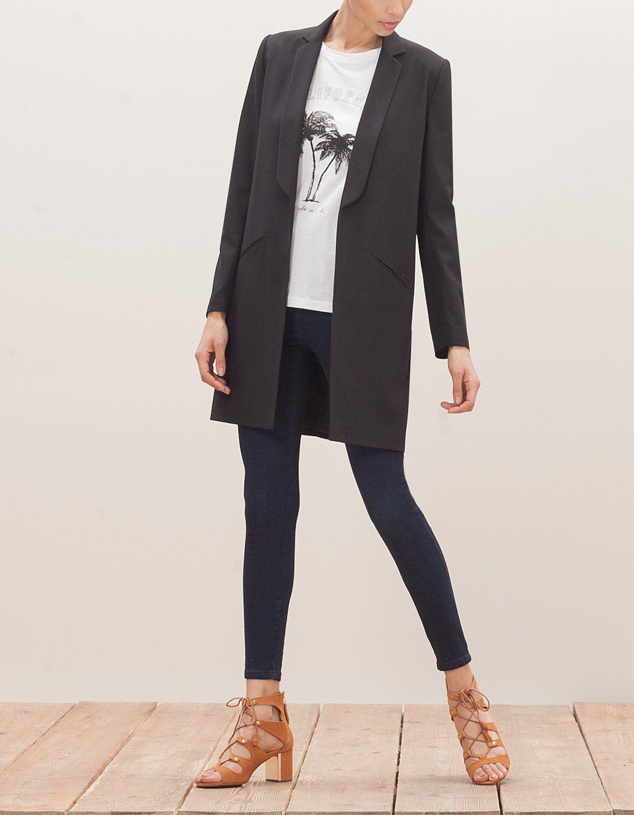 Longue veste blazer femme