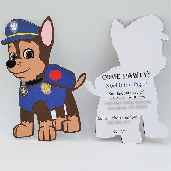 Chase Paw Patrol Invitations Paw Patrol By Creativecouplednt More O Pfote Patrouille Geburtstag Paw Patrol Geburtstag Einladungen Geburtstagseinladungen Kinder