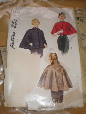 Vintage 1949 Simplicity Sewing Pattern 3122 via Molly's Sewing and Garage Sale Adventures: