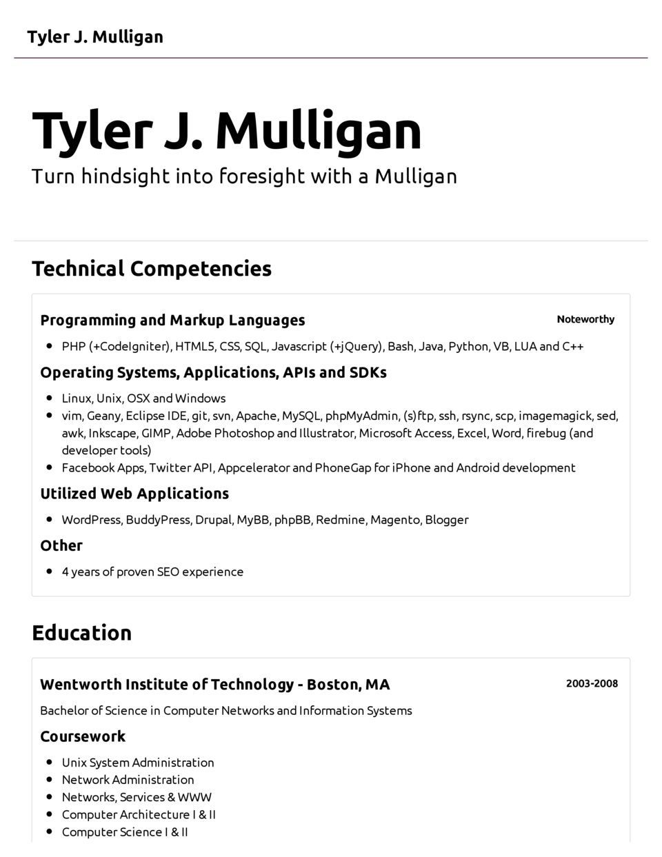 sample job resume pdf